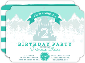 Ice Castle Birthday Party Invitation