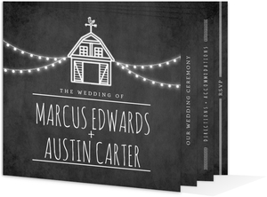 Rustic Barn Gay Wedding Booklet Invitation