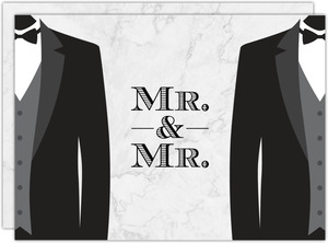 Mr. & Mr. Gay Wedding Invitation
