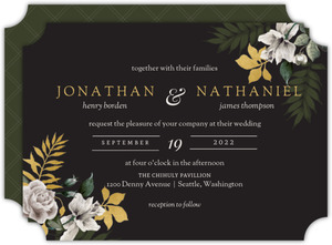 Romantic Floral Gay Wedding Invitation