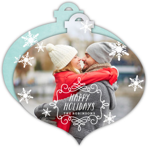 Falling Snowflakes Ornament Photo Card