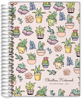 Succulent And Cactus Teacher Planner