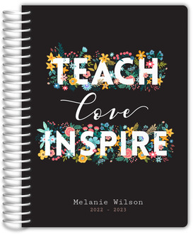 Floral Teach Love Inspire Daily Planner