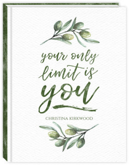Olive Branch Watercolor Quote Teacher Planner