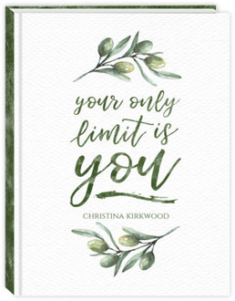 Olive Branch Watercolor Quote Daily Planner