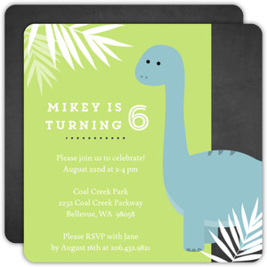 Tropical Dinosaur Birthday Party Invitation