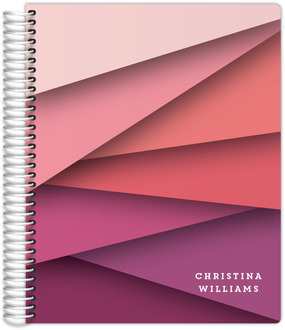 Pink Ombre Abstract Student Planner