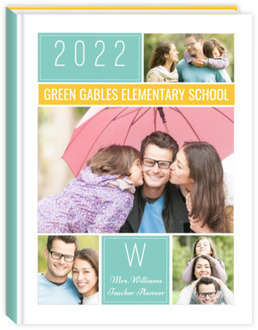 Colorful Family Photo Grid Teacher Planner