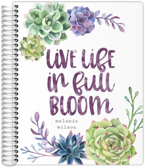 Succulent Pattern Quote Teacher Planner