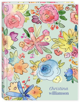 Vibrant Watercolor Flowers Daily Planner