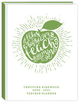Vintage Apple Teacher's Quote Teacher Planner