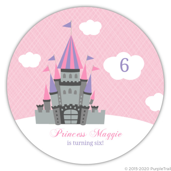 Pink and cloudy castle princess birthday invite princess birthday pink and cloudy castle princess birthday invite filmwisefo