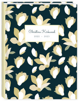 Rustic Ivory Flowers Daily Planner