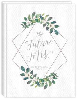Diamond Frame Greenery Wedding Journal