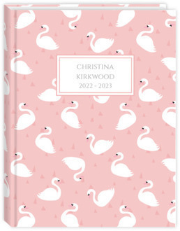 Pretty Swan Pattern Teacher Planner