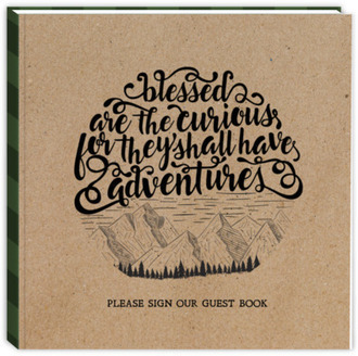 Plaid & Kraft Paper Adventure Vacation Home Guest Book