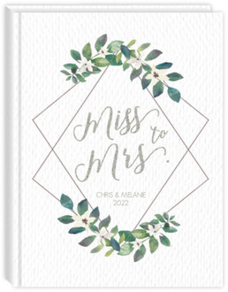 Diamond Frame Elegant Greenery Wedding Planner