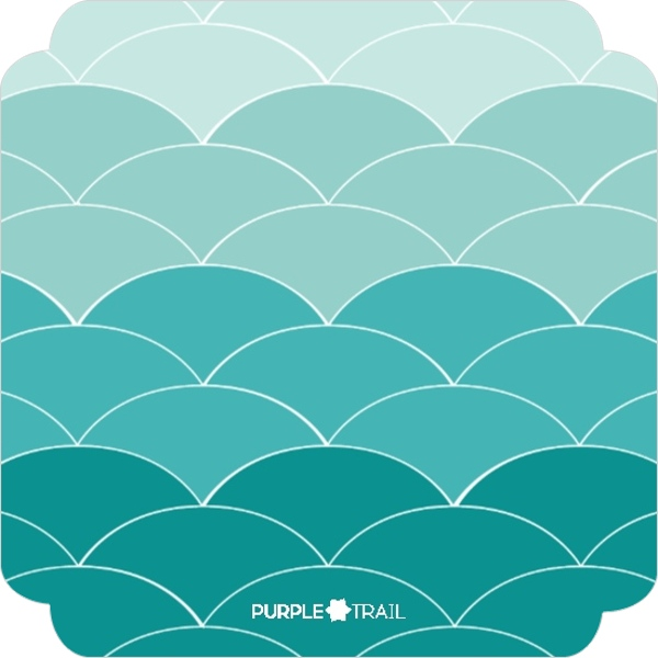 Teal And Coral Scaled Fin Mermaid Birthday Invitation