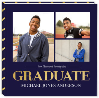 Navy and Gold Graduation Guest Book