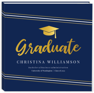 Modern Dotted Angle Graduation Guest Book