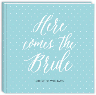 Here Comes The Bride Bridal Shower Guest Book