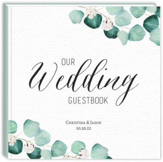 Elegant Silver Dollar Wedding Guest Book