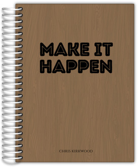 Woodgrain Make It Happen Family Planner