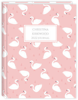 Pretty Swan Pattern Custom Journal