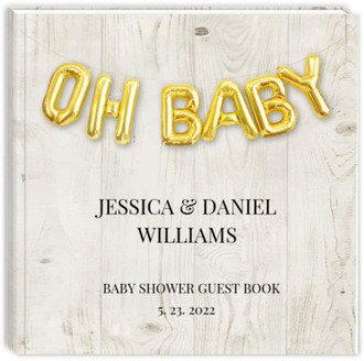 Oh Baby Faux Foil Balloons Baby Shower Guest Book