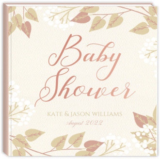 Elegant Foliage Baby Shower Guest Book