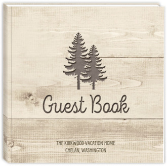 Wood Carving Vacation Home Guest Book