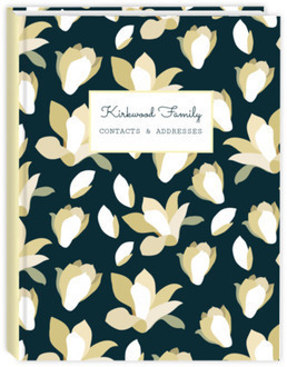 Rustic Ivory Flowers Address Book