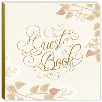 Fall Foliage & Elegant Script Vacation Home Guest Book