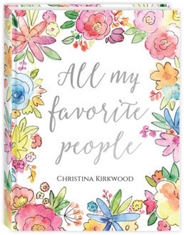 Faux Foil Colorful Watercolor Floral Address Book