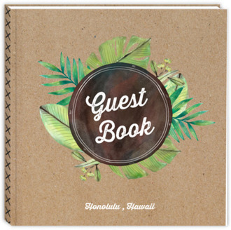 Tropical Foliage Kraft Vacation Home Guest Book