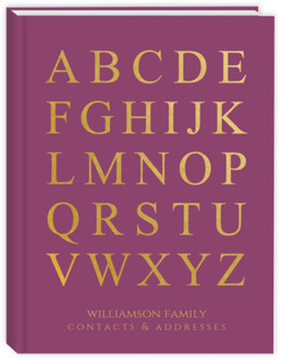 Faux Gold Alphabet Address Book
