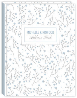 Delicate Floral Pattern Address Book