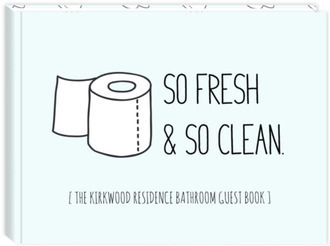 So Fresh & So Clean Bathroom Guest Book