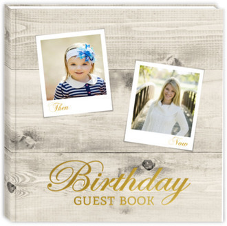 Hanging Photographs Birthday Guest Book