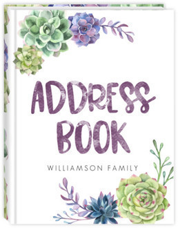 Succulent Pattern Address Book