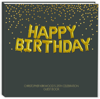 Happy Birthday Foil Balloons Birthday Guest Book