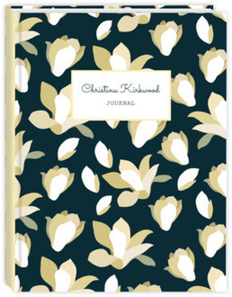 Rustic Ivory Flowers Journal