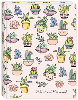 Succulent & Cactus Pattern Journal