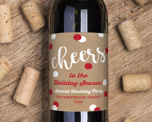 Kraft Cheerful Dots Wine Label