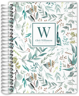 Elegant Watercolor Foliage Pattern Weekly Planner