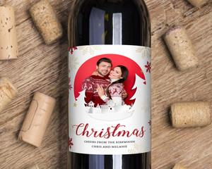 Christmas Cheers Custom Wine Label