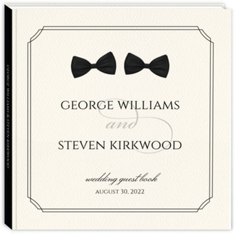 Double Bow Tie Gay Wedding Guest Book