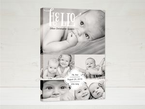 Baby Hello Canvas Print