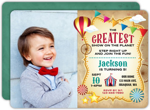 The Greatest Show Carnival Birthday Invitation