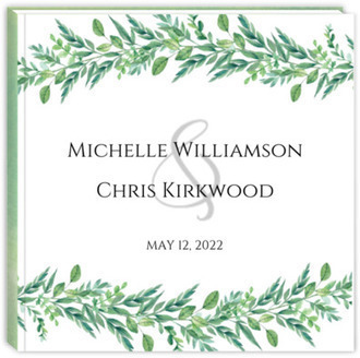 Gorgeous Greenery Wedding Guest Book